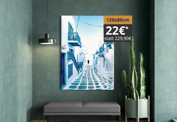 Leinwand 120x80cm 22€ (statt 229,90€)